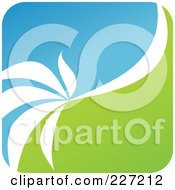 Royalty Free RF Clipart Illustration Of A Green Blue And White Botanical Logo Icon 9