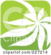 Royalty Free RF Clipart Illustration Of A Green And White Nature Leaf Logo Icon 11