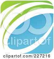 Royalty Free RF Clipart Illustration Of A Green Blue And White Botanical Logo Icon 7
