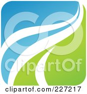 Royalty Free RF Clipart Illustration Of A Green Blue And White Botanical Logo Icon 8