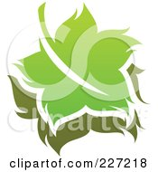Royalty Free RF Clipart Illustration Of A Green Leaf Logo Icon 16