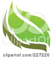 Royalty Free RF Clipart Illustration Of A Green Leaf Logo Icon 12