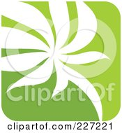 Royalty Free RF Clipart Illustration Of A Green And White Nature Leaf Logo Icon 6