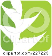 Royalty Free RF Clipart Illustration Of A Green And White Nature Leaf Logo Icon 8
