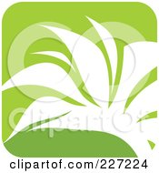 Royalty Free RF Clipart Illustration Of A Green And White Nature Leaf Logo Icon 1