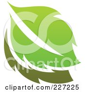 Royalty Free RF Clipart Illustration Of A Green Leaf Logo Icon 4