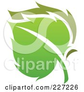 Royalty Free RF Clipart Illustration Of A Green Leaf Logo Icon 7