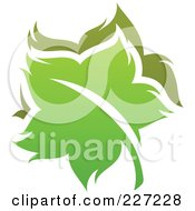 Royalty Free RF Clipart Illustration Of A Green Leaf Logo Icon 15