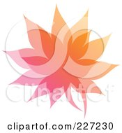 Royalty Free RF Clipart Illustration Of A Gradient Leaf Overlay Logo Icon 6