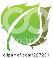 Royalty Free RF Clipart Illustration Of A Green Leaf Logo Icon 5