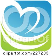 Royalty Free RF Clipart Illustration Of A Green Blue And White Botanical Logo Icon 5 by elena