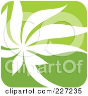 Royalty Free RF Clipart Illustration Of A Green And White Nature Leaf Logo Icon 2