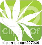 Royalty Free RF Clipart Illustration Of A Green And White Nature Leaf Logo Icon 5
