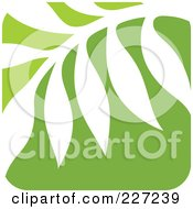 Royalty Free RF Clipart Illustration Of A Green And White Nature Leaf Logo Icon 10