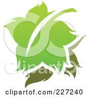 Royalty Free RF Clipart Illustration Of A Green Leaf Logo Icon 14