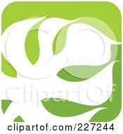 Royalty-Free (RF) Clipart Illustration of a Green And White Nature Leaf Logo Icon - 3 by elena