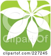 Royalty Free RF Clipart Illustration Of A Green And White Nature Leaf Logo Icon 7