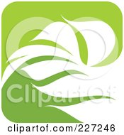 Royalty Free RF Clipart Illustration Of A Green And White Nature Leaf Logo Icon 4