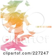 Royalty Free RF Clipart Illustration Of An Abstract Background Of Gradient Colors And White Doves On White by elena