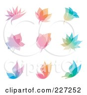 Royalty Free RF Clipart Illustration Of A Digital Collage Of Colorful Overlay Nature Icon Logos by elena