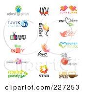 Digital Collage Of Logo Samples - 1