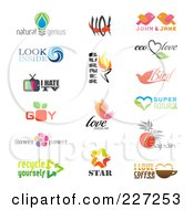 Royalty Free RF Clipart Illustration Of A Digital Collage Of Logo Samples 1 by elena
