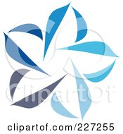 Royalty-Free (RF) Clipart Illustration of an Abstract Blue Star Logo Icon - 7 by elena #COLLC227255-0147