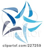Royalty Free RF Clipart Illustration Of An Abstract Blue Star Logo Icon 11