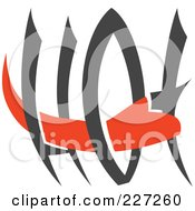 Royalty Free RF Clipart Illustration Of A Red Hand Through The Word Hot