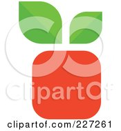 Royalty Free RF Clipart Illustration Of A Square Fruit Logo by elena