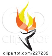Royalty Free RF Clipart Illustration Of A Flaming Burner Logo