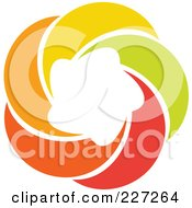 Royalty Free RF Clipart Illustration Of An Abstract Orange Green Red And Yellow Star Logo Icon 9