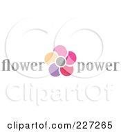 Royalty Free RF Clipart Illustration Of A Flower Power Logo