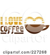 Royalty Free RF Clipart Illustration Of An I Love Coffee Logo