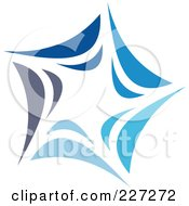 Royalty Free RF Clipart Illustration Of An Abstract Blue Star Logo Icon 2