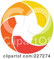 Royalty Free RF Clipart Illustration Of An Abstract Orange Green Red And Yellow Star Logo Icon 14