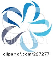 Royalty Free RF Clipart Illustration Of An Abstract Blue Star Logo Icon 4