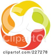 Royalty Free RF Clipart Illustration Of An Abstract Orange Green Red And Yellow Star Logo Icon 3