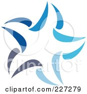 Royalty Free RF Clipart Illustration Of An Abstract Blue Star Logo Icon 14 by elena