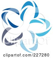 Royalty Free RF Clipart Illustration Of An Abstract Blue Star Logo Icon 15 by elena