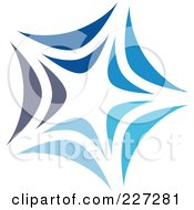 Royalty Free RF Clipart Illustration Of An Abstract Blue Star Logo Icon 16 by elena