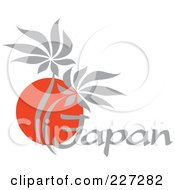 Royalty Free RF Clipart Illustration Of A Red And Gray Palm Tree Japan Logo by elena