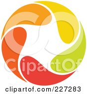 Royalty Free RF Clipart Illustration Of An Abstract Orange Green Red And Yellow Star Logo Icon 16