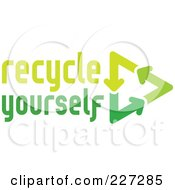 Royalty Free RF Clipart Illustration Of A Recycle Yourself Logo
