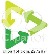 Royalty Free RF Clipart Illustration Of A Green Recycle Arrow Logo