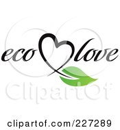 Royalty Free RF Clipart Illustration Of An Eco Love Logo by elena