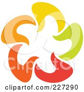 Royalty Free RF Clipart Illustration Of An Abstract Orange Green Red And Yellow Star Logo Icon 13