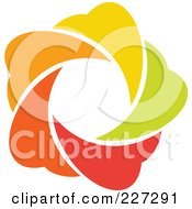 Royalty Free RF Clipart Illustration Of An Abstract Orange Green Red And Yellow Star Logo Icon 6