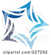 Royalty Free RF Clipart Illustration Of An Abstract Blue Star Logo Icon 10