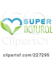 Royalty Free RF Clipart Illustration Of A Green And Blue Super Natural Heart Logo